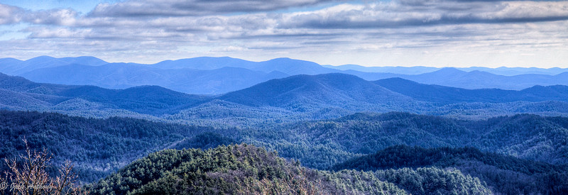 Rich Mountain Wilderness from Cohutta Mountains, GA