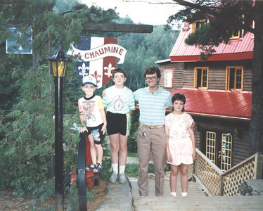LaChaumine, Quebec Family Vacation - 1992