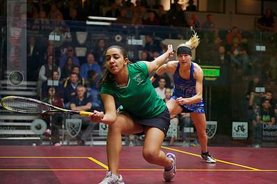 2012 U.S. Open Women's Quarterfinal: Raneem El Weleily (Egypt) defeated Kasey Brown (Australia)