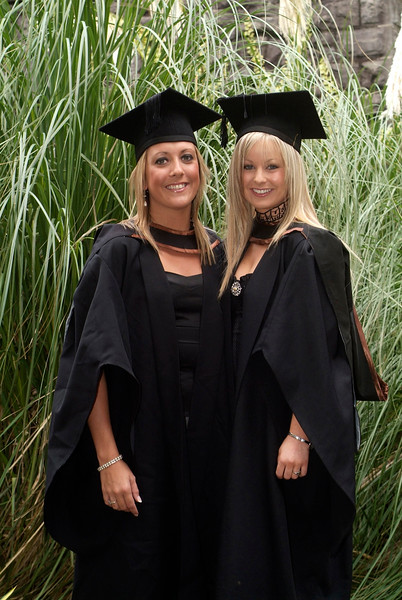 Louise Ryan, Clonmel Co. Tipperary and Jeralee O'Byrne, Ferrybank Waterford, pictured as they graduated with  BA (Hons) in Languages and Marketing at Waterford Institute of Technology. (pic-Photozone)