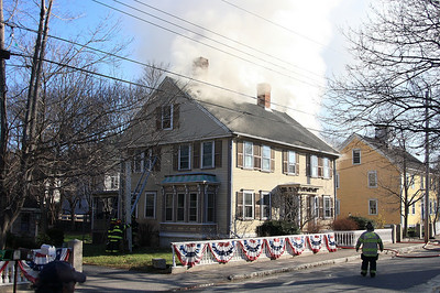 Freetown MA 4/10/2009 house fire on Water St.