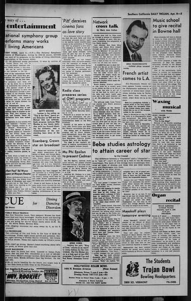 Daily Trojan, Vol. 34, No. 122, April 08, 1943