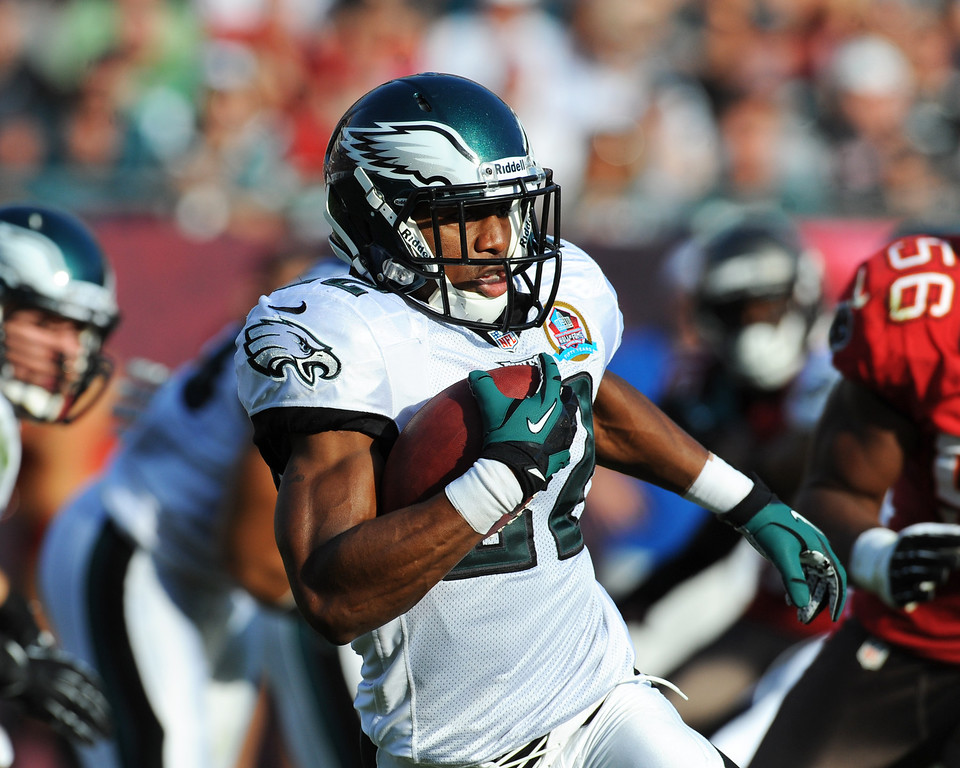 . TAMPA, FL - DECEMBER 9: Cornerback Brandon Boykin #22 of the Philadelphia Eagles returns a kick against the Tampa Bay Buccaneers  December 9, 2012 at Raymond James Stadium in Tampa, Florida. The Eagles won 23 - 21. (Photo by Al Messerschmidt/Getty Images)
