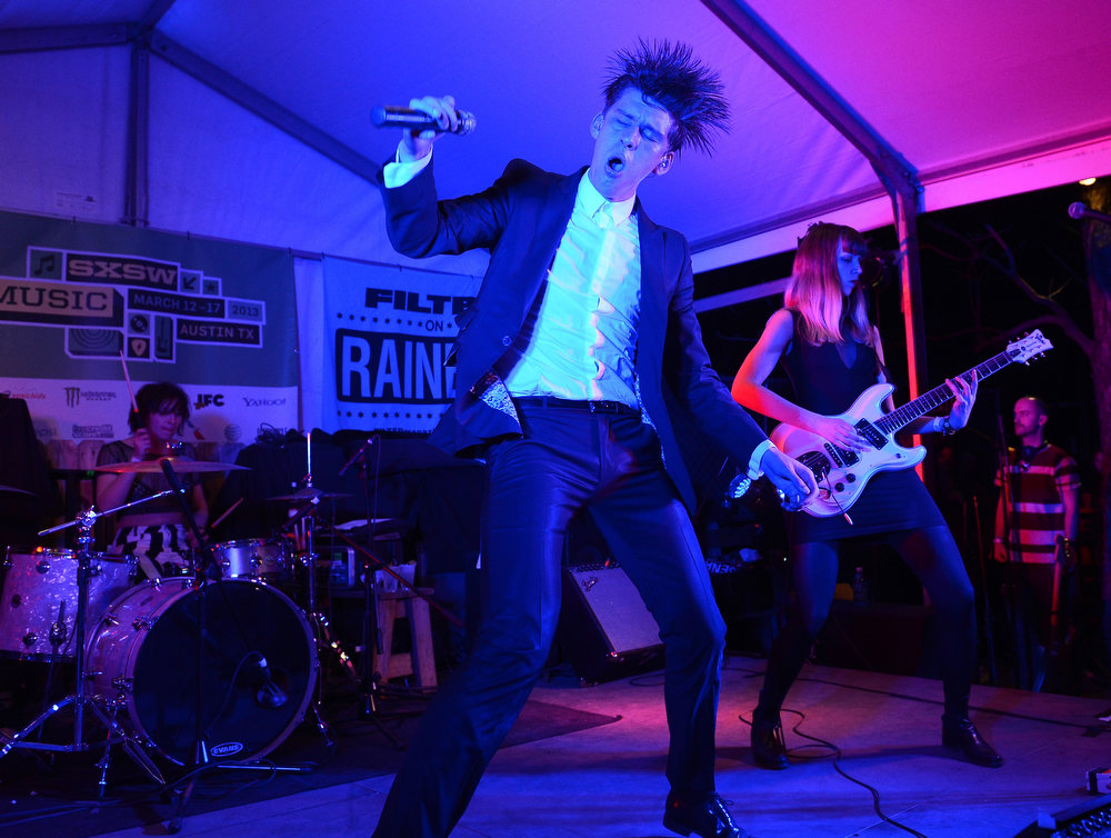 . Willy Moon performs on stage at the Filter Magazine Showcase during the 2013 SXSW Music, Film + Interactive Festival at Clive Bar on March 13, 2013 in Austin, Texas.  (Photo by Michael Buckner/Getty Images for SXSW)