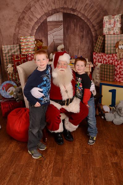 Lee kids Santa 2012