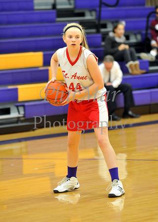 St. Anne vs Sacred Heart Girls Basketball
