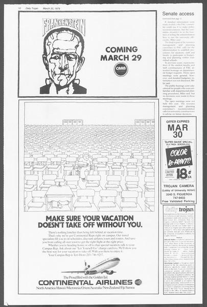 Daily Trojan, Vol. 76, No. 27, March 20, 1979