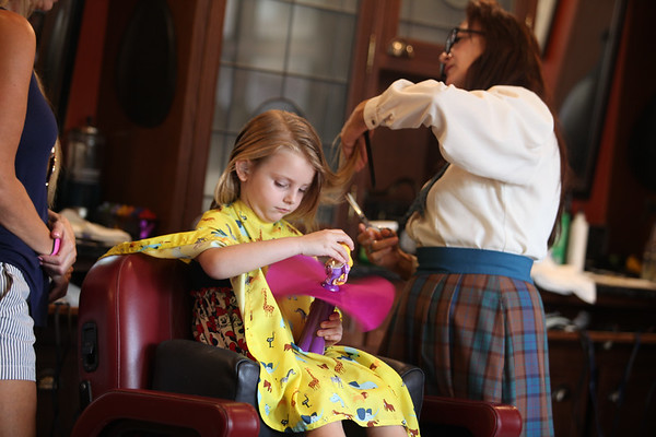 Higginbotham Sisters at Harmony Barber Shop