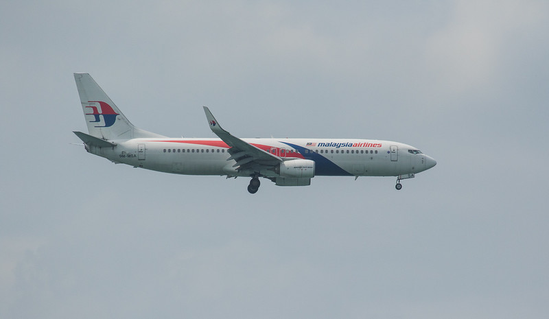 Malaysia Airlines B737-8H6 9M-MSA as MH1436 approaching Langkawi LGK WMKL.