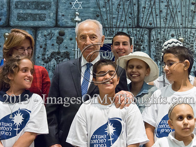 20131009 President Peres Launches Cancer Fundraising Campaign