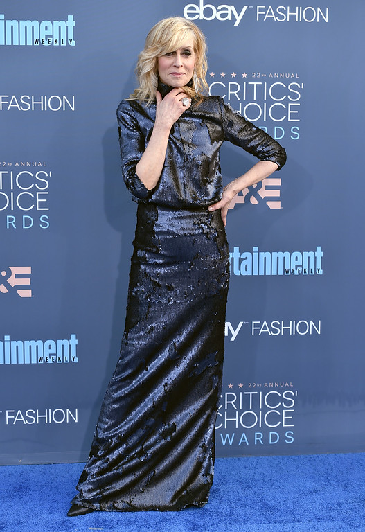 . Judith Light arrives at the 22nd annual Critics\' Choice Awards at the Barker Hangar on Sunday, Dec. 11, 2016, in Santa Monica, Calif. (Photo by Jordan Strauss/Invision/AP)