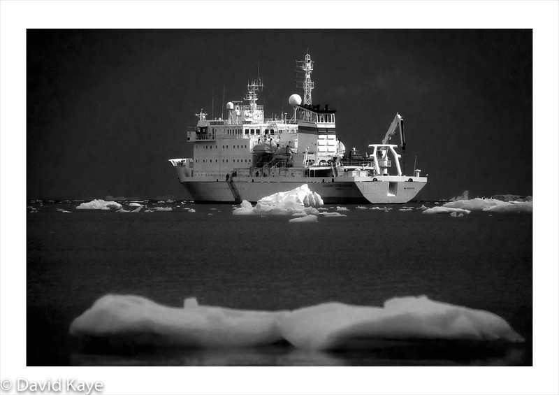 The Akademik Sergey Vavilov : 30 year old Russian scientific research vessel, 6,500 tons, ice-strengthened, Premier Inn like accommodation for 92 passengers, 40 Russian crew and 20 Canadian expedition team.