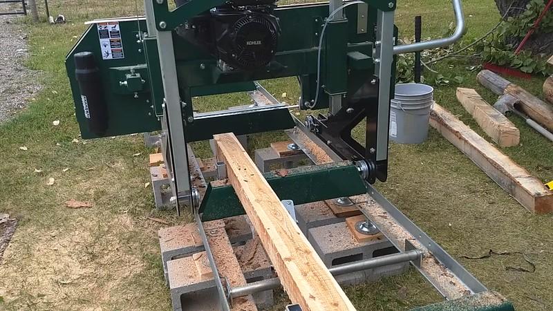 Milling Larch log 2019