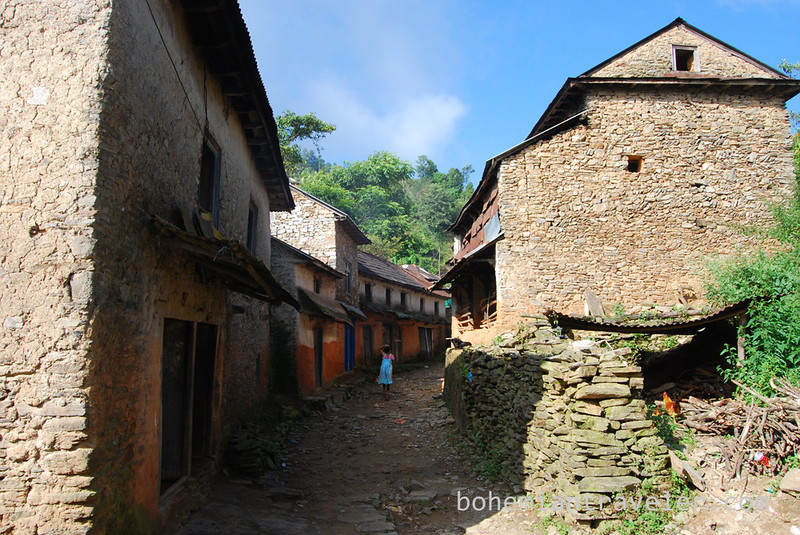 A village along the Helambu Trek.