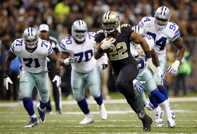 ". <p>6. (tie) DALLAS COWBOYS <p>Heroically held New Orleans to 40 first downs, in part, by letting them score seven touchdowns. (unranked) <p><b><a href=\'http://www.cbssports.com/nfl/eye-on-football/24215453/saints-set-nfl-record-for-most-first-downs-in-a-game\' target=""_blank\""> HUH?</a></b> <p>    (Tom Fox/Dallas Morning News/MCT)"