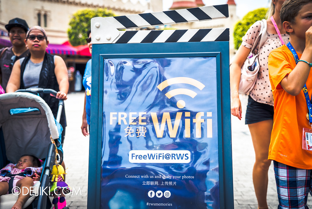 Universal Studios Singapore Park Update August 2016  - Free Wifi at USS for Pokemon Go, Instagram, SnapChat
