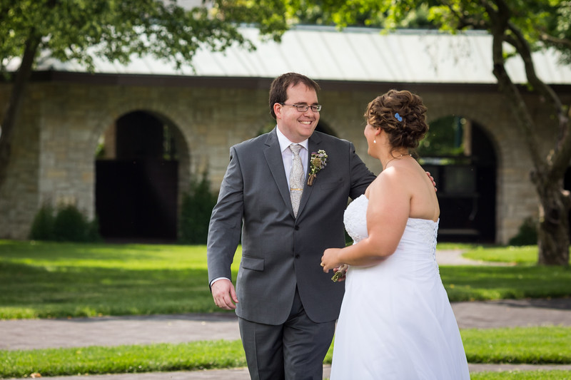 """Michelle & Mark's """"First Look"""" on their wedding day at Keeneland 6.01.13"""