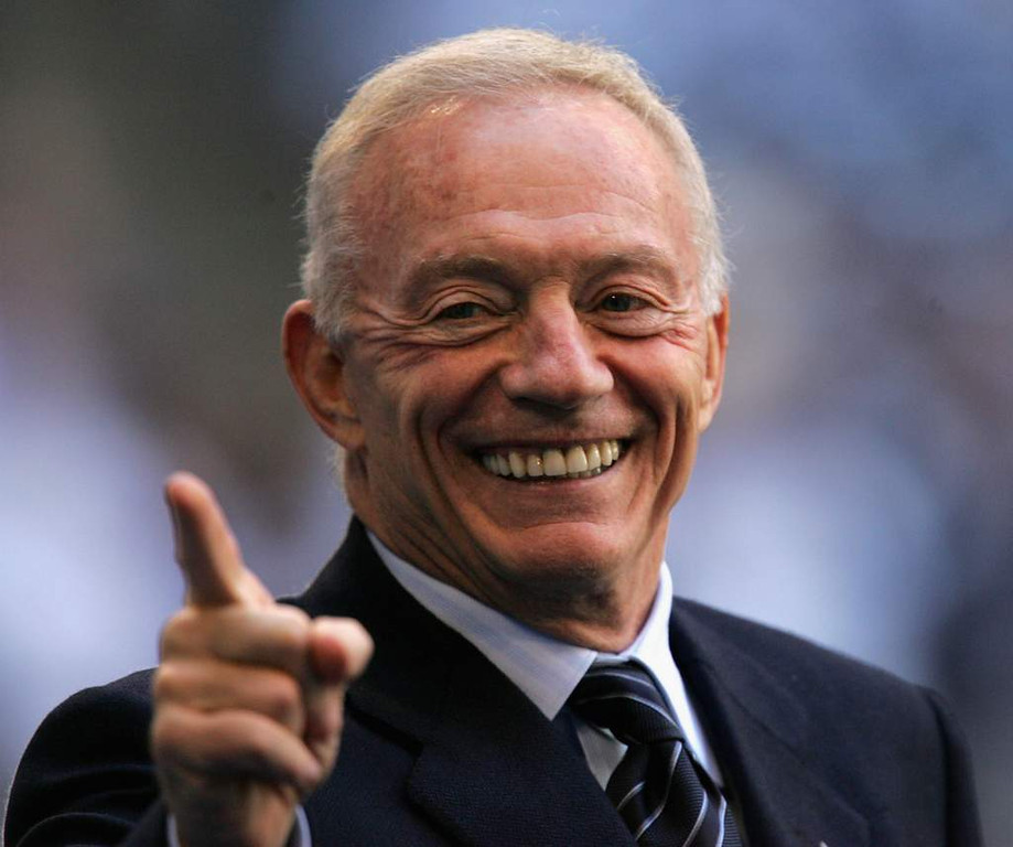 ". <p><b>DALLAS COWBOYS</b> <p><i>�JERRY RIGGED�</i> <p>America�s Team can blame Romo <p>Yet the problem�s the team�s majordomo <p>Long as Jones is in charge <p>We�re going to bet large <p>That they�ll be a champion no mo <p><b><a href=\'http://cowboysblog.dallasnews.com/2013/08/dallas-cowboys-owner-jerry-jones-says-cat-scan-showed-he-has-brain-of-a-40-year-old.html/\' target=""_blank\""> HUH?</a></b> <p>    (Ronald Martinez/Getty Images)"