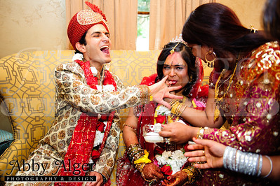 Couple's Games in Bridal Chamber after Ceremony