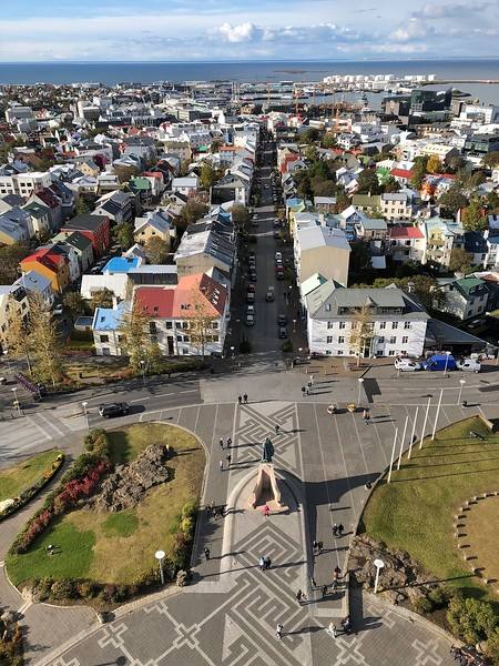 The view from the top of Hallgrimskirkja