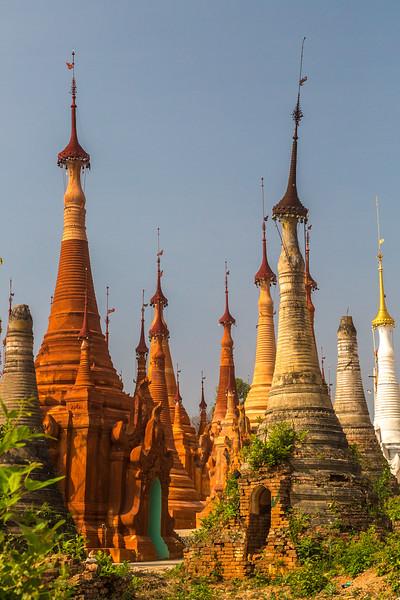 Ocher  Pagodas