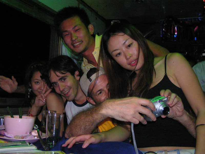 Party in the club car going from Bangkok to Chain Mai on the train. Thailand