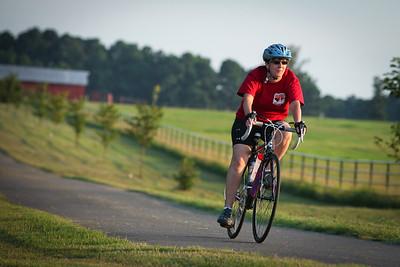 Susan biking