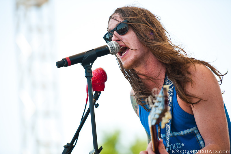 Jaren Johnston of Amercian Bang performs at the 97x Backyard BBQ at Vinoy Park in St. Petersburg, Florida on May 29, 2010.
