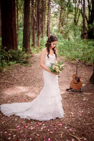 Bridal Portrait in Kiriwhakapapa Forest