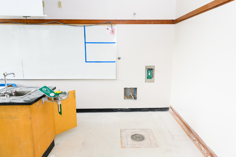 New emergency eyewash and shower stations installed in a North Salem High School science classroom on Friday, August 16, 2019, in Salem, Ore.