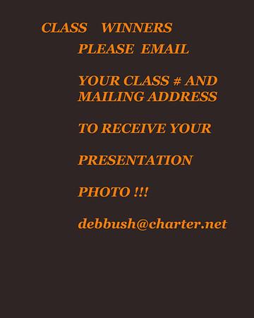 CLASS WINNERS PLEASE NOTE !!!