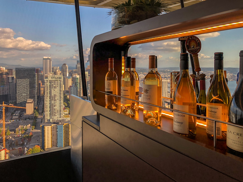 Drinking in the Space Needle