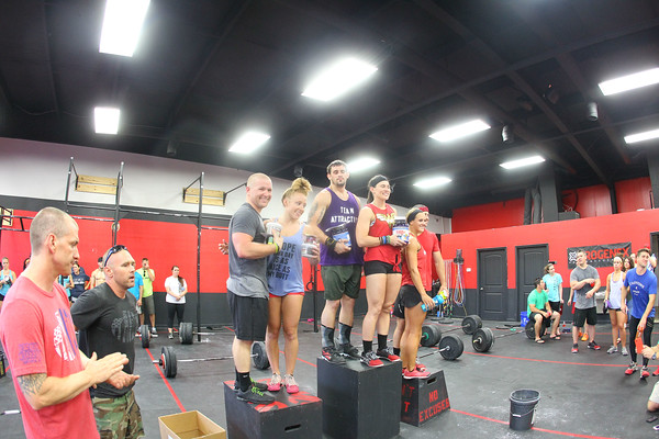 CrossFitter's For Kids Partner Competition July 26 2014 at Desoto Crossfit