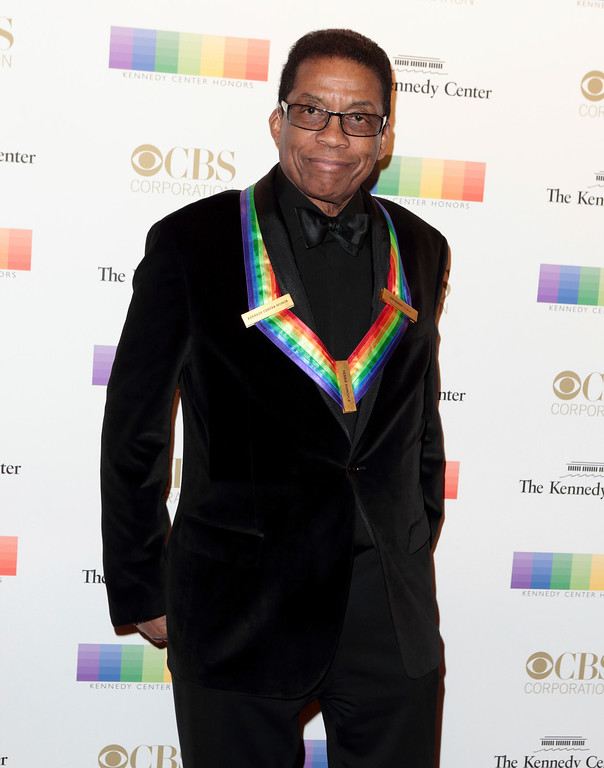 . Herbie Hancock attends the Kennedy Center Honors gala at the Kennedy Center on Sunday, Dec. 4, 2016, in Washington. (Photo by Owen Sweeney/Invision/AP)