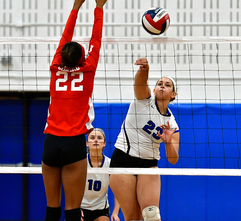 11/10/2018 Mike Orazzi   Staff Southington High School's Keishla Rosario (23) during the Class LL Quarterfinal Girls Volleyball Tournament in Southington Saturday.