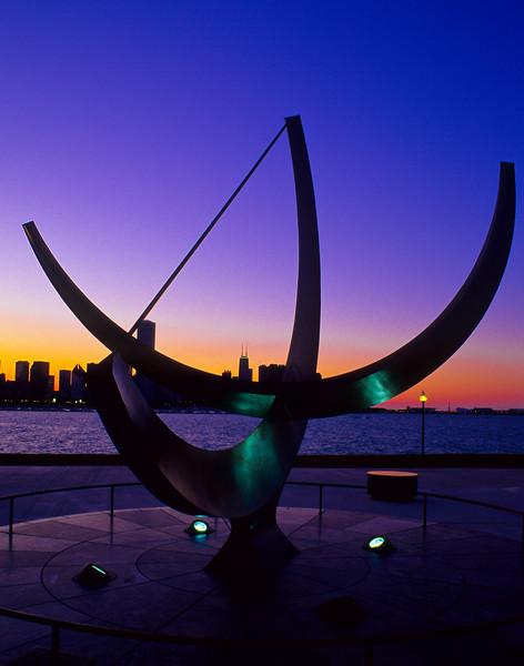 The Henry Moore Sundial Sculpture Sundial Plaza Adler Planetarium