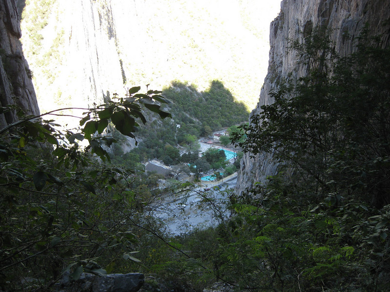 View of the pool in the canyon