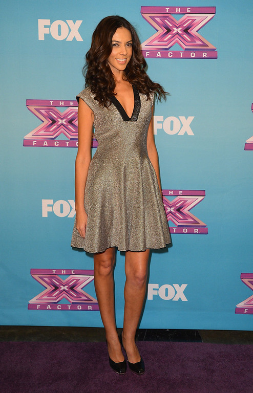 ". Extra correspondent Terri Seymour arrives at Fox\'s ""The X Factor\"" Season Finale - Night 2 at CBS Televison City on December 20, 2012 in Los Angeles, California.  (Photo by Frazer Harrison/Getty Images)"