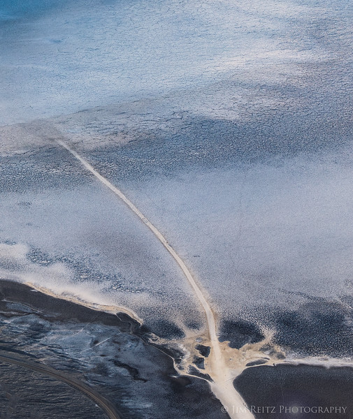 Overhead view of Badwater Basin, from Dante's View.