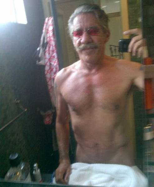 ". <p><b><a href=\'http://www.nydailynews.com/entertainment/gossip/geraldo-rivera-posts-nude-selfie-twitter-article-1.1404964\' target=""_blank\""> Fox News journalist Geraldo Rivera raised eyebrows by taking a nearly-naked photo of himself and posting it on the Internet with the comment ... </a></b> <p> <b>A. �70 is the new 50� </b> <p><b> B. �We disrobe, you decide� </b> <p> <b>C. �PLEASE CALL ME, MILEY!!!� </b> <p> --------------------------------------------  (Twitter photo by Geraldo Rivera)"
