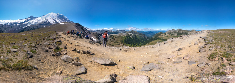 Burroughs Mountain Loop Trail Stitched Panorama
