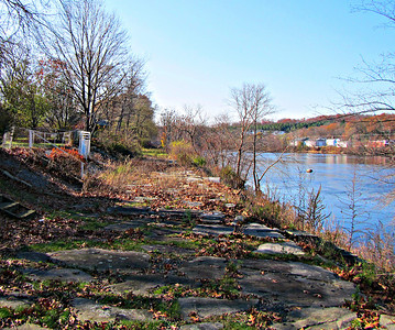 Tewksbury Bay Circuit Trail: St. Mary's and the State Hospital wet section (Nov. 10)