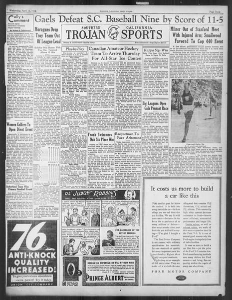 Daily Trojan, Vol. 27, No. 115, April 15, 1936