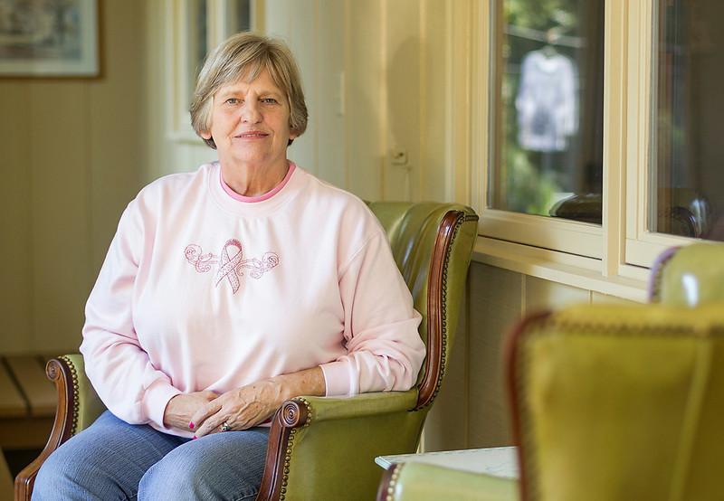 Erik Anderson/Rockford Register Star Resident Deb Landmeier sits in her solarium while at her home in Belvidere on Thursday, September 26, 2013.
