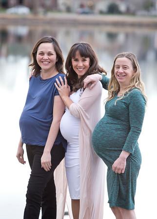 Trifecta of Beautiful Mamas & Babes-To-Be