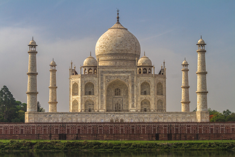 View Of Taj Mahal From The Mehtab Bagh Across The Yamuna River, Agra, India, Asia