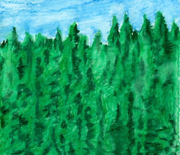 Watercolor/pastel.