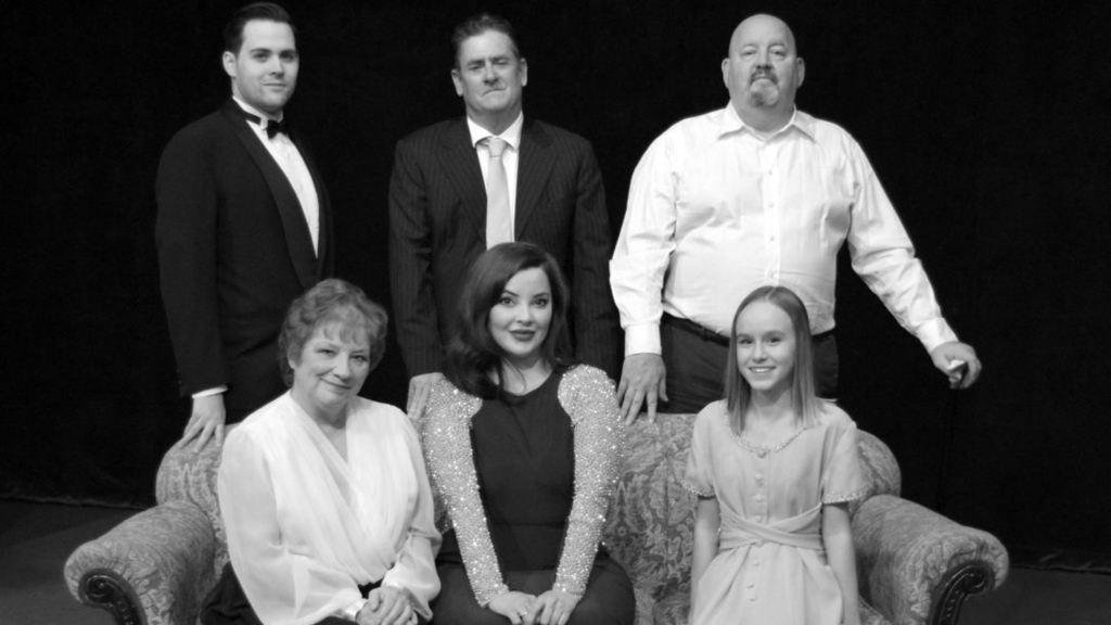 """. \""""The Philadelphia Story\"""" -- starring  John Hickman, Dennis Burby, Michael J. Rogan, Sue Cohen, Talia Valline and Celia Hawk -- is on stage at Chagrin Valley Little Theatre from Jan. 19 through Feb. 3. For more information, visit cvlt.org. (Kourtney Highland / CVLT)"""