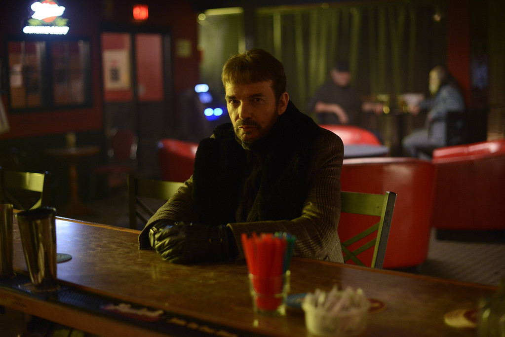 """. This image released by FX shows Billy Bob Thornton as Lorne Malvo in a scene from \""""Fargo.\"""" Thornton was nominated for an Emmy Award for best actor in a miniseries or movie on Thursday, July 10, 2014. The 66th Primetime Emmy Awards will be presented Aug. 25 at the Nokia Theatre in Los Angeles. (AP Photo/FX, Chris Large)"""