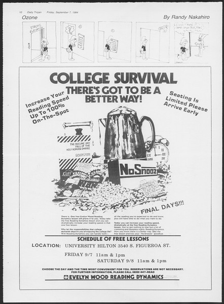 Daily Trojan, Vol. 97, No. 4, September 07, 1984